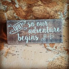 And So Our Adventure Begins by ParLaGrace on Etsy
