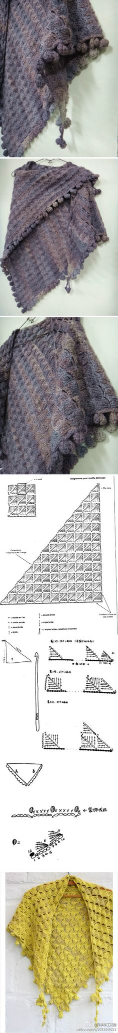 Charted crochet shawl - looks warn and cosy!