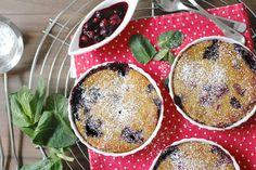 veganes Joghurt-Mandel Gratin wie Beeren