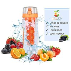 Almighty Rob 7 Sports Water Bottle Fitness Best with Leakproof flip lid no Sweat Great for Indoor Outdoor Travel bpa-Free