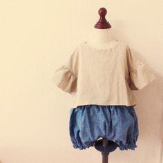 くったりハーフリネンのプルオーバー - かわいいハンドメイドベビー服 lepolepo ルポルポ