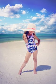 Beach style, kids style, toddler clothing, swimsuit, swimwear, one piece, @janieandjack