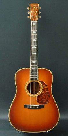 1975 Martin D-45 sunburst acoustic guitar.