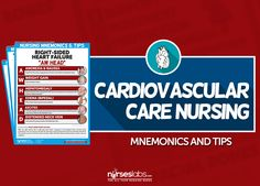 To help you grasp the core concepts of Cardiovascular Care Nursing (or Cardiac Care Nursing), here are our visual nursing mnemonics and tips!