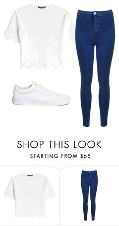"""""""Untitled #54"""" by evelinefeitosaneres on Polyvore featuring Alexander McQueen, Miss Selfridge and Vans"""