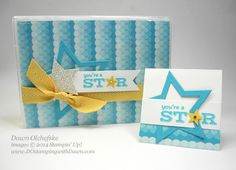 July 21, 2014 DOstamping with Dawn, Stampin' Up! Demonstrator: The STAR Treatment: Treat Boxes Stampin' Up!'s Wood Mount Stamp Cases, Pictogram Punches, Sweet Taffy dsp