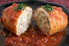 Squid stuffed with meat, it& been a while since I prepared this .- Squid stuffed with meat, it& been a while since … - Best Fish Recipes, Crab Recipes, Favorite Recipes, Fish Dishes, Seafood Dishes, Fish And Seafood, Local Seafood, Calamari Recipes, Squid Recipes