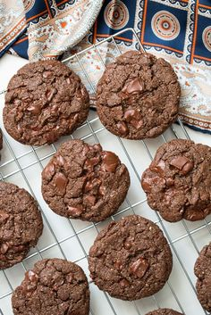 Vegan One Bowl Double Chocolate Chunk Cookies - seriously good cookies, no reason to ever make cookies with butter and eggs again