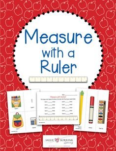 A great hands-on math center for practicing measuring with a ruler! Also available in measure with an apples ruler!