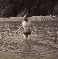 My grandfather Patrick von Dellingshausen swimming in an interior BC lake in the summer of 1963 Old Family Photos, Old Photos, My Family, Old Things, Swimming, Interior, Summer, Faces, Old Pictures