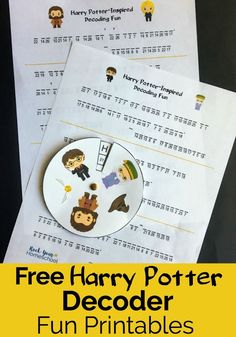 Add a touch of magic to your learning fun with these free Harry Potter-Inspired decoder fun printables. #HarryPotter #HarryPotterprintables
