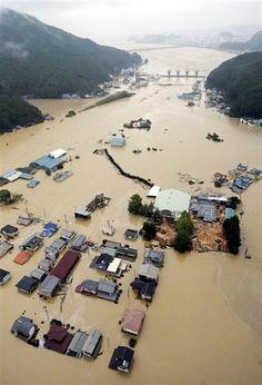 Typhoon in Japan