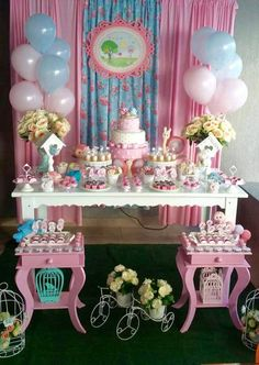 Kids Party Decorations, Backdrop Decorations, Anniversaire Candy Land, Shabby Chic Birthday, Baby Boy Baptism, Birthday Cake Decorating, Candy Table, Diy Party, Girl Birthday