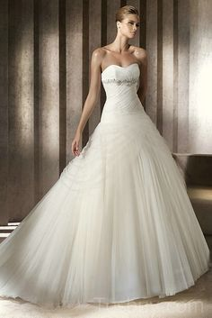 sweetheart pleated organza and tulle princess wedding dresses salev neck wedding dress 2012 with