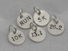 Awesome for a charm bracelet add distances as you reach them