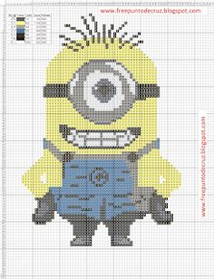 Dibujos Punto de Cruz Gratis: Minion Cross Stitch Pattern - Punto de cruz