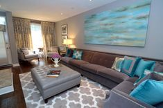 turquoise decorating living room