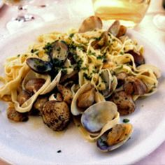 Tagliolini with True Clams by Saveur. Though this dish is traditionally made with vongole veraci, or true clams, Asian clams (manila clams) may be substituted.