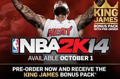 NBA 2K14 King James Bonus Pack