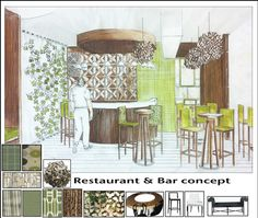 "Restaurant and Bar Design, ""Tree House"" on the Behance Network"