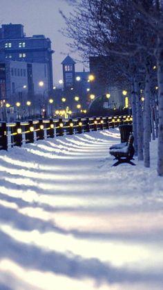 Winter, Montreal, Quebec, Canada