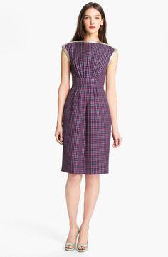 Marc by Marc Jacobs - Purple Clover Check Sheath Dress