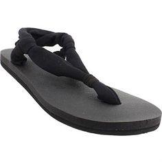 25c49d6aec6b43 Sanuk Yoga Slingshot Flip Flops - Womens Black