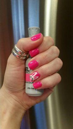 Easter themed nails! Orly Beach Cruiser Gel Polish.