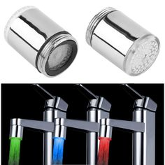 Cheap light office, Buy Quality light confetti directly from China faucet lamp Suppliers: 1 pc LED Light Water Faucet Tap Heads Temperature Sensor RGB Glow LED Shower Stream Bathroom Shower faucet 3 Color Changing Bathroom Shower Faucets, Bathroom Fixtures, Bathroom Faucets, Kitchen Fixtures, Faucet Kitchen, Taps Bath, Kitchen Shower, Buy Kitchen, Water Faucet