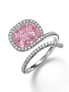 A Touch of Pink: Ten Years of Exceptional Diamond Jewellery | Sotheby's: 3.39 carat pink diamond.