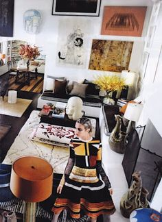 Mario Testino's insanely gorgeous art-filled home in the March Vogue.