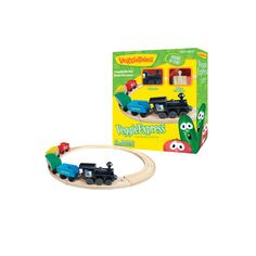 All aboard this wooden train set featuring your favorite characters from VeggieTales! This solid wood train set is painted with bright co...