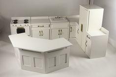 Modular Kitchen in White from Dollhouse Alley