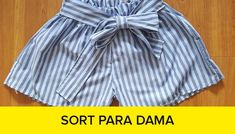 curso confeccion short para dama Chor, Couture, Trunks, Crochet, Swimwear, Fashion, Vestidos, Dress Sewing Patterns, Fashion Sewing