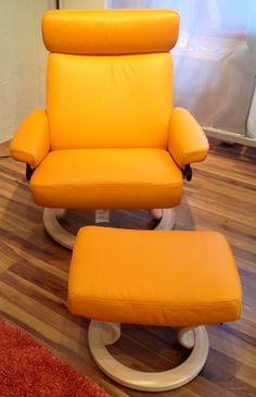 Orion & Taurus recliners in Paloma Clementine. Available at Scanhome Furnishings in Green Bay.