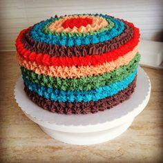 Rainbow cake Vanilla Cake, Birthday Cake, Rainbow, Cakes, Desserts, Food, Rain Bow, Tailgate Desserts, Rainbows