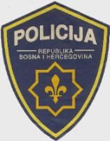 Patch pertaining to the Military Police of the Army of the Republic of Bosnia and Herzegovina active during the Bosnian Civil War (1992-1995). The main symbol here is a rubʿ ḥizb. The Bosnian Army was disbanded after the Dayton Peace Agreement.