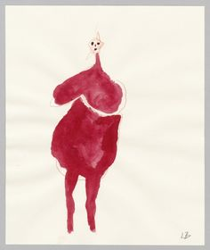 Louise Bourgeois, Femme, 2007 – gouache and colored pencil on paper, 24,1 x 20,3 cm. Photo The Easton Foundation, New York, courtesy Xavier Hufkens, Brussels