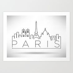 Embroidery Pattern of Paris Skyline. jwt Embroidery Pattern of Paris Skyline. Paris Drawing, City Drawing, Doodle Drawings, Easy Drawings, Doodle Art, City Sketch, Skyline Design, Modern Typography, Typographic Design