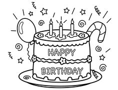 Happy Birthday Girl Coloring Page For Kids Holiday Pages Printables Free