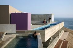 Vedoble Houses Barclay & Crousse Cañete Peru by promenadearchitecture Architecture Résidentielle, Contemporary Architecture, Amazing Architecture, Moderne Pools, Porches, Future House, Interior And Exterior, Indoor Outdoor, Beautiful Places
