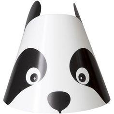 Birthday Panda Party Hats, 8pk