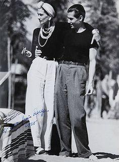 secretvintage: Coco Chanel y Serge Lifar, 1940