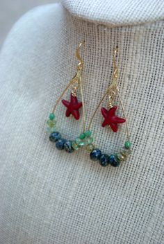 Sea Shores Earrings by piecesofaprilmel on Etsy, $15.00