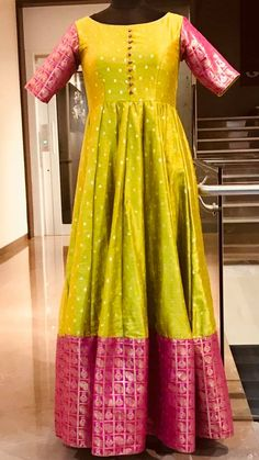 Order contact my whatsapp number 7874133176 Kalamkari Dresses, Ikkat Dresses, Saree Blouse Neck Designs, Dress Neck Designs, Lehnga Dress, Frock Dress, Long Gown Dress, Long Frock, Long Gowns