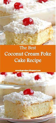 and >> Poke Cake Recipe - Poke Cake Recipes, Poke Cakes, Cookie Recipes, Dessert Recipes, 3 Ingredient Cakes, Baked Teriyaki Chicken, Sugar Pie, Honey Buns, Good Food