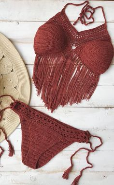 30 Amazing Bikini And Swimwear Ideas For Summer And Spring New 2019 - Page 6 of 29 - clear crochet Crochet Bikini Pattern, Crochet Bikini Top, Knit Crochet, Crochet Style, Crochet Designs, Crochet Patterns, Crochet Ideas, Crochet Hooks, Free Crochet