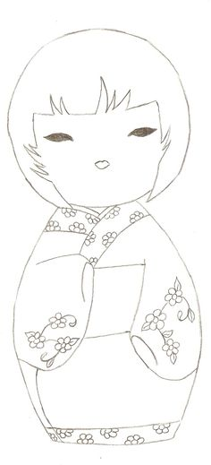 kokeshi coloriage