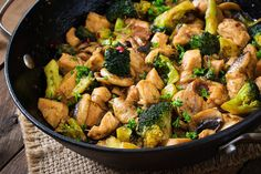Thai Chicken Broccoli Make a quick weeknight dinner with this stir–fry recipe mixing chicken, broccoli, and onion in a mixture of soy sauce, ginger, and sugar. Learning stir fry is simple. Thai Chicken Broccoli Share This Recipe Yum Serves 4 Thai. Chicken Mushroom Stir Fry, Chicken Broccoli Stir Fry, Chicken And Vegetables, Veggies, Thai Chicken, Teriyaki Chicken, Healthy Chicken, Fried Chicken, Stir Fry Recipes