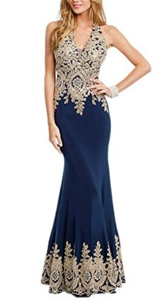 Miss Chics Women Halter Vneck Lace Beaded Evening Gowns Prom Dresses 20168Navy * Want to know more, click on the image.